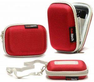 Navitech - Rouge Résistant à l'eau dure Housse de protection en pour les baladeurs MP3 / Audio numérique tel que Trustin Portable Dictaphone de la marque Navitech image 0 produit