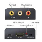 Neoteck RCA vers HDMI Convertisseur AV CVBS vers HDMI Adaptateur Composite HDMI 1080P pour PC Tablette Xbox PS3 TV STB VHS VCR Lecteur DVD Projecteur de la marque Neoteck image 4 produit