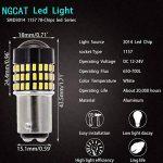 Ngcat 2pcs 900lumens 3014smd 78-ex Chipsets 1157BAY15D 205723577528ampoules LED avec lentille Vidéoprojecteur Frein Tour Signal Tail sauvegarde inversée lumières, Xenon Blanc, 12–24V de la marque NGCAT image 2 produit