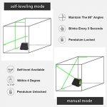 Niveau laser vert autonivelant - Huepar Box-1G 150ft / 45m Niveau laser horizontal transversal avec faisceau vertical de 150 °, lignes laser sélectionnables Couverture de 360 ° Inclut la base magnétique et les piles (trépied non inclus) de la marque Huepa image 1 produit