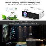 【Nouvelle Version】ABOX Vidéoprojecteur Portable LED LCD Projecteur HD 1080p, Mini Soutien Dolby Audio HDMI USB VGA AV SD, Retroprojecteur(Cordon HDMI Offre) T22 de la marque GooBang Doo image 4 produit