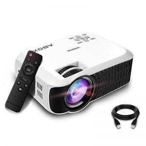 【Nouvelle Version】ABOX Vidéoprojecteur Portable LED LCD Projecteur HD 1080p, Mini Soutien Dolby Audio HDMI USB VGA AV SD, Retroprojecteur(Cordon HDMI Offre) T22 de la marque GooBang Doo image 0 produit
