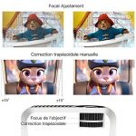 【Nouvelle Version】ABOX Vidéoprojecteur Portable LED LCD Projecteur HD 1080p, Mini Soutien Dolby Audio HDMI USB VGA AV SD, Retroprojecteur(Cordon HDMI Offre) T22 de la marque GooBang Doo image 2 produit