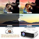 【Nouvelle Version】ABOX Vidéoprojecteur Portable LED LCD Projecteur HD 1080p, Mini Soutien Dolby Audio HDMI USB VGA AV SD, Retroprojecteur(Cordon HDMI Offre) T22 de la marque GooBang-Doo image 1 produit