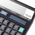 NWYJR Calculatrice solaire, calculatrice numérique de bureau 12, calculatrice noire de bouton en cristal pour le bureau/école/magasin de la marque NWYJR Calculatrice image 2 produit