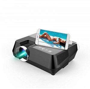 NWYJR Projecteurs Données Afficher Mini USB Connexion Téléphone Cellulaire 1600 Lumens TV Projecteur 800X600dpi Full HD Home Cinéma Divertissement de la marque NWYJR image 0 produit