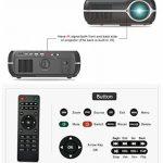 NWYJR WiFi 3D Projeteur Full HD LED LCD 4200 Lumens 1280 * 800 P Vidéo Vidéo Projecteur Vidéo Beamer pour Home Cinéma Divertissement Jeux Parties Bureau Conférence,White de la marque NWYJR image 4 produit