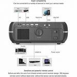 NWYJR WiFi 3D Projeteur Full HD LED LCD 4200 Lumens 1280 * 800 P Vidéo Vidéo Projecteur Vidéo Beamer pour Home Cinéma Divertissement Jeux Parties Bureau Conférence,White de la marque NWYJR image 3 produit