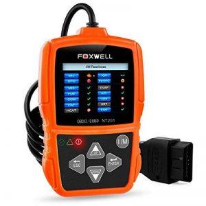 OBD2 Auto Diagnostic Scanner OBD II FOXWELL Voiture Outil de Diagnosti Multimarque en Francais OBD2 Lecteur de code Automatique Outil de Testeur Moteur Code Reader pour OBD 2 Véhicules(NT201) (orange clair) de la marque FOXWELL image 0 produit