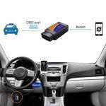 OBD2 Bluetooth Voiture Diagnostic Scanner Automobile Lecteur de code de défaillance de véhicule sans fil, OBDII outil de balayage pour BMW, Audi, Ford, Mercedes Benz, VW, soutien Android et Symbian et Windows XP / 7 de la marque Hovinso image 4 produit
