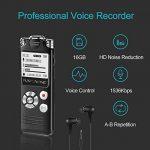OEM Enregistreur vocal, kayowine 16GB 1536kbps avec interface Deutsche Digital Recorder Dictaphone reconnaissance vocale Haut-parleur pour bureau école Interviews de la marque KAYOWINE image 4 produit