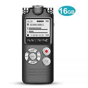 OEM Enregistreur vocal, kayowine 16GB 1536kbps avec interface Deutsche Digital Recorder Dictaphone reconnaissance vocale Haut-parleur pour bureau école Interviews de la marque KAYOWINE image 0 produit