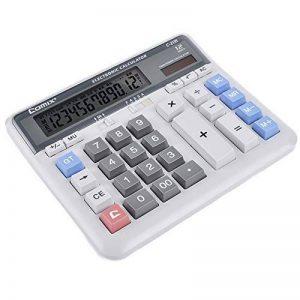 Office Supplies Calculatrice d'affaires, Calculatrice de Boutons Financiers, 12 Chiffres, Grand écran Solaire Calculatrice de Batterie Double Puissance ZDDAB de la marque Office Supplies image 0 produit
