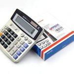 OFFIDIX Calcolatrice da tavolo desktop di calcolatore elettronico a doppia alimentazione a energia solare e batteria Calcolatrice a cristalli liquidi portatile a 12 cifre portatile 1PC de la marque OFFIDIX image 4 produit