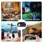 OKEU C7 2600 Lumens Vidéoprojecteur Full HD,Mini Video Projecteur Android sans Fil 1080p Portable LED Projecteur de Cinéma Maison Soutien AV/USB/SD/HDMI/VGA pour TV/PC/iPhone/iPad/Jeux Video(Noir) de la marque OKEU image 4 produit