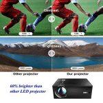 OKEU C7 2600 Lumens Vidéoprojecteur Full HD,Mini Video Projecteur Android sans Fil 1080p Portable LED Projecteur de Cinéma Maison Soutien AV/USB/SD/HDMI/VGA pour TV/PC/iPhone/iPad/Jeux Video(Noir) de la marque OKEU image 1 produit