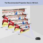 OKEU C7 2600 Lumens Vidéoprojecteur Full HD,Mini Video Projecteur Android sans Fil 1080p Portable LED Projecteur de Cinéma Maison Soutien AV/USB/SD/HDMI/VGA pour TV/PC/iPhone/iPad/Jeux Video(Noir) de la marque OKEU image 2 produit
