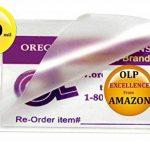 OLP Hot 10MIL étiquette de bagage Pochettes de plastification avec fente (lot de 500) 2–1/2x 4–1/4clair de la marque Oregon Lamination Premium image 1 produit