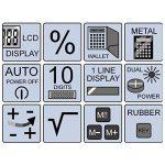 OLYMPIA LCD1110R - Calculatrice Rouge - Ecran 10 chiffres - Double Alimentation de la marque Olympia image 1 produit