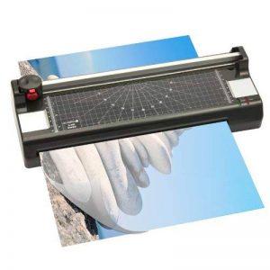 Olympia Plastifieuse 4 en 1 Format A4 Massicot avec 3 types de coupe et arrondisseur d'angles Avec 100 feuilles de plastification de la marque Olympia image 0 produit