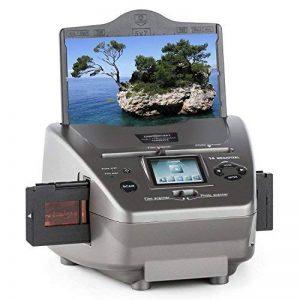 oneConcept 979GY Combo Scanner de photos • Diapo indépendant de l'ordinateur • Capteur CMOS 14 mégapixels • 14MP SD USB • Traitement directement sur l'appareil • 9 x 13, 10 x 15 et 13 x 18 cm, négatif 35 mm • Cartes de visite de la marque OneConcept image 0 produit