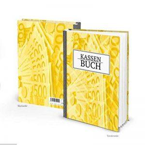 Ordre gemäßes Caisse livre DIN A5Couverture rigide jaune pour bar paiements simple d'aperçu des Finances et livre de recettes et dépenses 148pages–aussi comme cadeau. Budget Argent de la marque Logbuch-Verlag image 0 produit