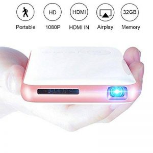 OTHA Mini Vidéoprojecteur, Pico Projecteur Portable Android Home Cinéma, 32GB De Mémoire, Entrée HDMI sur PC Portable PS4, Ajustement Automatique des Trapèzes Bluetooth Projecteur de la marque OTHA image 0 produit
