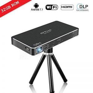OTHA Pico Projecteur, 32GB Mini Vidéoprojecteur Full HD Android 7.1 Portable Projecteurs, 100 ANSI Lumens, Entrée HDMI pour Clé USB, iPhone, PC, Laptop de la marque OTHA image 0 produit