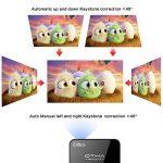 OTHA - Videoprojecteur Full HD, Android 7.1.2 Mini Projecteur Vidéo, Pico Projecteur, Soutien 1080P Bluetooth HDMI Beamer Airplay Wifidisplay Eshare, USB Carte TF pour Home Cinéma iPhone Android Sans Fil et Fil Séparateur, Auto et Correction Keystone Maua image 3 produit