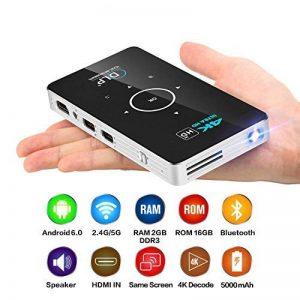 OTHA Videoprojecteur, Mini Projecteur Portable Andorid 7.1 Pico DLP Vidéoprojecteurs 1080P Full HD Home Cinema avec USB /WiFi /Bluetooth/HDMI-in pour Miroir iPhone/Android/PC/PS4 Jeux de la marque OTHA image 0 produit
