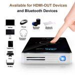 OTHA Videoprojecteur, Mini Projecteur Portable Andorid 7.1 Pico DLP Vidéoprojecteurs 1080P Full HD Home Cinema avec USB /WiFi /Bluetooth/HDMI-in pour Miroir iPhone/Android/PC/PS4 Jeux de la marque OTHA image 1 produit