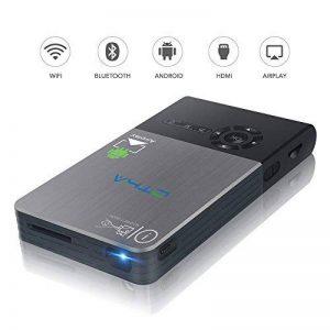 OTHA--Videoprojecteur,Videoprojecteur full hd, Mini Projecteur Portable - Cinéma Maison Sans Fil De 120 Pouces - Prend En Charge La Carte Wi-Fi / Hdmi / Bluetooth / USB / TF - Entrée Hdmi Mini Projecteur - IdéAl Pour Les RéUnions Ou Les FêTes -32G de la m image 0 produit