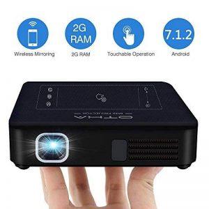 OTHA Vidéoprojecteur Wifi, Mini Projecteur Portable Android 7.1 & RAM de 2Go, Vidéoprojecteur LED DLP de Cinéma Maison 4K Lecture, 200 Lumens ANSI, Supporte le codec H.265 et dispose d'une Entrées HDMI de la marque OTHA image 0 produit