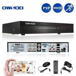 OWSOO 4 canaux canal complet 960H/D1 H.264 HDMI P2P nuage réseau DVR enregistreur vidéo numérique + 1 to HDD support Audio enregistrement téléphone contrôle Motion Detection Email alarme PTZ de la marque OWSOO image 0 produit