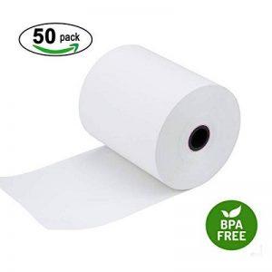 """Papier thermique 2 1/4"""" X 85 'POS réception papier, Happaper Marque, 57mmX26m rouleau de 50 rouleaux Caisse enregistreuse 50 Rolls de la marque Happaper image 0 produit"""
