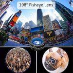 Patasen 10 en 1 Kit de lentilles de caméra pour téléphone universel Clip-on Phone Grand angle + Lentille Macro + Fisheye + Téléobjectif + Kaléidoscope Lentille 3/6 + Filtre CPL / Flow / Star / Radial pour iPhone Samsung La plupart des Smartphone de la mar image 3 produit