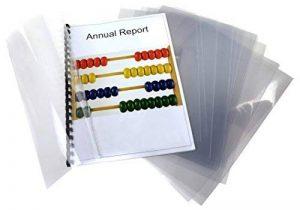 Pavo Boîte de 100 Couvertures de reliure en PVC 300 microns A4 Transparent de la marque Pavo image 0 produit