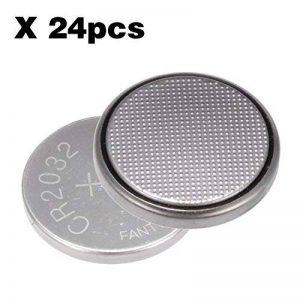 PChero 3 V CR2032 pile bouton au lithium pour lampes LED, télécommandes, Balance numérique, et donc sur, Silver, 24packs de la marque PChero image 0 produit
