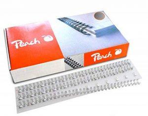 Peach Baguettes Reliure métallique 12mm argent, 3:1', 34 boucles A4, 100 pcs. PW127-01 de la marque Peach image 0 produit