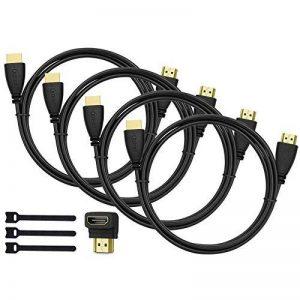 Perlegear Câble HDMI 4 Pack Ultra HD Professionel, Audio Return Channel - Signal Vidéo Haute performance avec Ethernet - Haute Performance 3D, HDTV, Playstation, Xbox, Projecteur de la marque Perlegear image 0 produit