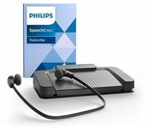 Philips LFH7177Kit de lecture pour dictaphone numérique Systèmes de Philips, avec pédale acc2330, USB stéréo casque sous le menton lfh0334, logiciel de lecture SpeechExec 10, anthracite de la marque Philips image 0 produit