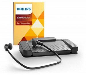 Philips lfh7277/07lecture Kit, ergonomique USB Pédale acc2330, sous le menton stéréo casque lfh0334, avec kit de dictée et logiciel de lecture SpeechExec Professional 10, anthracite de la marque Philips image 0 produit