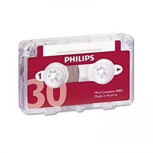 Philips Mini-cassette pour dictaphone 30 min 15 min par face Ref 0005 Pack de 10 de la marque Philips Audio image 0 produit