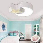 Plafonnier Lampe Chambre LED, moderne Cartoon chambre Licht entièrement à intensité variable avec télécommande Lune avec étoile Chambre Lumières, blanc Moderne 50x40x8cm de la marque GMWSM image 2 produit