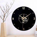 PLYY Européenne Rétro 3D Stéréo Acrylique Vinyle CD Horloge Murale Creative Décoratif Horloge Murale de Quartz de la marque PLYY image 3 produit