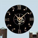 PLYY Européenne Rétro 3D Stéréo Acrylique Vinyle CD Horloge Murale Creative Décoratif Horloge Murale de Quartz de la marque PLYY image 4 produit