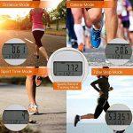 Podomètre Pédomètre Marche 3D avec Crochet Compteur de Pas Précis Fitness Tracker Multifonction Suivre Étape/Marche/Course/Jogging/Horloge Compteur avec Mémoire de 7 Jours Calculateur de Calorie pour Hommes et Femmes - Blanc de la marque Tsumbay image 4 produit
