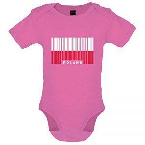 Pologne / Poland - Drapeau Code Barre - Bébé-Body - 7 Couleur - 0-18 mois de la marque Dressdown image 0 produit