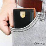 Porte-monnaie intelligent avec pince à billets en cuir véritable - porte-monnaie avec protection rfid, porte-cartes de crédit avec pince à billets, porte-monnaie pour hommes, porte-monnaie pour hommes de la marque SG ZERO image 3 produit