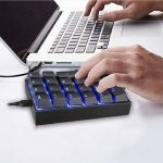 PowerFul-LOT Mechanical Keyboard Clavier Filaire Clavier USB Français Touches Wired,Keyboard Résistant aux Déversements,pour Les calculs Financiers,Utilisateur de Compteur de Bloc-Notes de la marque PowerFul-LOT image 1 produit